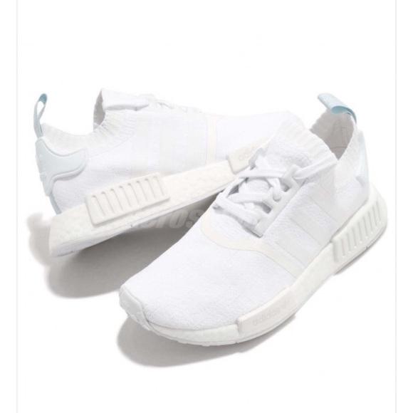 Adidas originals NMD_R1 PK W White Blue Tint